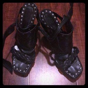 YSL Strap leather sandals